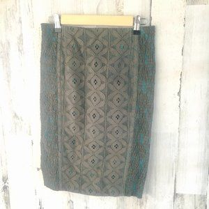 Anthropologie Beguile Byron Lars Lace Pencil Skirt